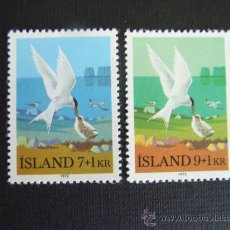 Sellos: ISLANDIA Nº YVERT 422/3*** AÑO 1972 AVE. CHARRAN ARTICO. Lote 26570134