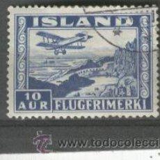 Sellos: ISLANDIA.SELLOS. RAROS. AEREOS.RARO EN USADO. 15. AÑO 1934.. Lote 26904711