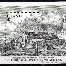 Sellos: ISLANDIA AÑO 1988 YV HB 9*** DÍA DEL SELLO - PUEBLO DE PESCADORES - CZESLAW SLANIA. Lote 27482250