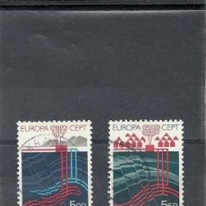 Sellos: ISLANDIA 1983, YVERT Nº 551/552, TEMATICA EUROPA. USADO-MATASELLADO.. Lote 27676482