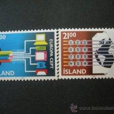 Sellos: ISLANDIA 1988 IVERT 635/6 *** EUROPA - TRANSPORTES Y COMUNICACIONES . Lote 28524171