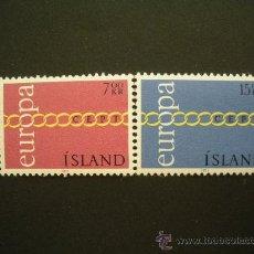Sellos: ISLANDIA 1971 IVERT 404/5 *** EUROPA. Lote 29044241