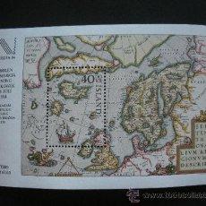 Sellos: ISLANDIA 1984 HB IVERT 6 *** EXPOSICION FILATÉLICA INTERNACIONAL - NORDIA-84 - MAPAS. Lote 29218603