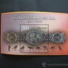 Sellos: ISLANDIA 2006 HB IVERT 42 *** CENTENARIO DE LA LUCHA ISLANDESA - DEPORTES. Lote 29218725