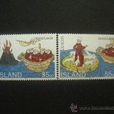 Sellos: ISLANDIA 1994 IVERT 753/4 *** EUROPA - LOS DESCUBRIMIENTOS. Lote 29919406