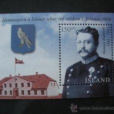 Sellos: ISLANDIA 2004 HB IVERT 35 *** CENTENARIO AUTONOMÍA INTERNA DE ISLANDIA - PERSONAJES. Lote 32489100