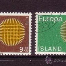Sellos: ISLANDIA 395/96 - AÑO 1970 - EUROPA . Lote 32702164