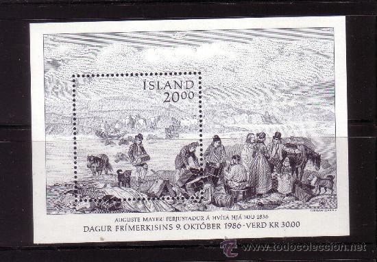 ISLANDIA HB 7*** - AÑO 1986 - DIA DEL SELLO (Sellos - Extranjero - Europa - Islandia)