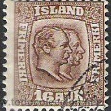Sellos: 389-ISLANDIA CLAVE 1907 Nº54 VALOR 35,00€ BONITO 1907. Lote 33648251