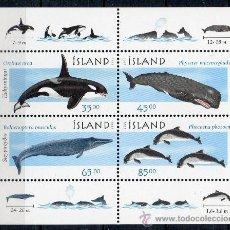 Sellos: ISLANDIA AÑO 1999 YV HB 23**** BALLENAS Y DELFINES - FAUNA MARINA - CETÁCEOS - MAMÍFEROS. Lote 36139273