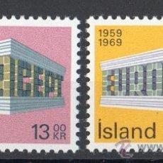 Sellos: ISLANDIA AÑO 1969 YV 383/84*** EUROPA. Lote 36139406