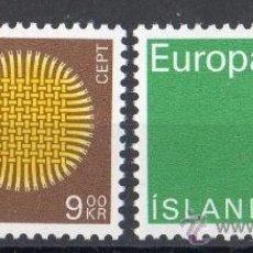 Sellos: ISLANDIA AÑO 1970 YV 395/96*** EUROPA. Lote 36139464