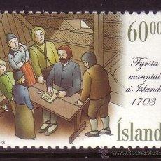 Sellos: ISLANDIA 972*** - AÑO 2003 - 300º ANIVERSARIO DEL PRIMER CENSO DE ISLANDIA. Lote 37166049