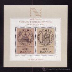 Sellos: ISLANDIA HB 4*** - AÑO 1982 - EXPOSICION FILATELICA INTERNACIONAL NORDIA 84. Lote 37166088