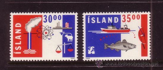 ISLANDIA 719/20*** - AÑO 1992 - EXPORTACIONES (Sellos - Extranjero - Europa - Islandia)