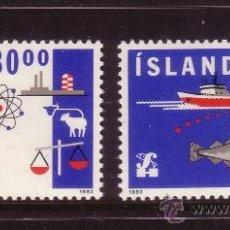 Sellos: ISLANDIA 719/20*** - AÑO 1992 - EXPORTACIONES. Lote 37203814