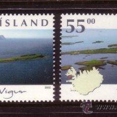 Sellos: ISLANDIA 947/48*** - AÑO 2002 - ISLAS DE ISLANDIA. Lote 37203862