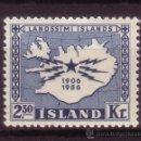 Sellos: ISLANDIA 269*** - AÑO 1956 - 50º ANIVERSARIO DE LAS TELECOMUNICACIONES EN ISLANDIA. Lote 130368783