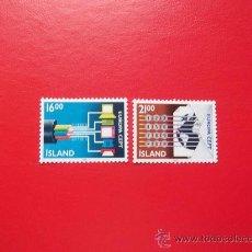 Sellos: ISLANDIA 1988, YVERT 635-36, NUEVOS. Lote 38338483
