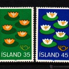 Sellos: ISLANDIA 473/74** - AÑO 1977 - PROTECCIÓN DEL MEDIO AMBIENTE. Lote 39536055