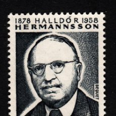Sellos: ISLANDIA 491** - AÑO 1978 - CENTENARIO DEL NACIMIENTO DE HALLDOR HERMANNSSON. Lote 39536089