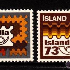 Sellos: ISLANDIA 435/36** - AÑO 1973 - EXPOSICION FILATELICA ISLANDIA 73. Lote 39580437