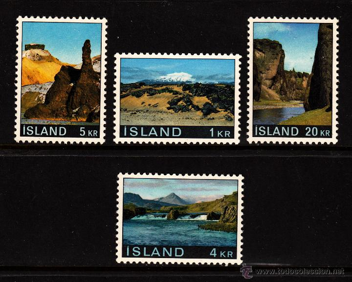 ISLANDIA 387/90** - AÑO 1970 - PAISAJES (Sellos - Extranjero - Europa - Islandia)