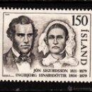 Sellos: ISLANDIA 498** - AÑO 1979 - CENTENARIO DE LA MUERTE DEL PRESIDENTE JON SIGURDSSON. Lote 127169451