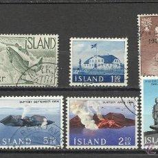 Sellos: LOTE DE SERIE Y SELLOS DE ISLANDIA. Lote 40916779