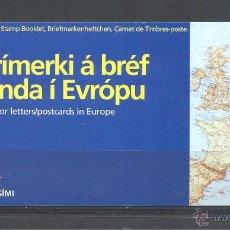 Sellos: TEMA EUROPA ISLANDIA AÑO 94 CARNET 753 Y 754. Lote 41804324