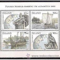 Selos: ISLANDIA 2000 - DESCUBRIMIENTO DE AMERICA POR LOS VIKINGOS - YVERT Nº 882-882 Ó BLOCK Nº 26. Lote 42869486