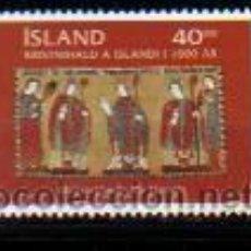 Sellos: ISLANDIA. 880 CRISTIANISMO EN ISLANDIA**. 2000. SELLOS NUEVOS Y NUMERACIÓN YVERT.. Lote 43089193