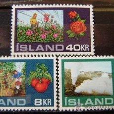 Sellos: ISLANDIA - IVERT 418/20 NUEVOS*** SIN CHARNELA ( HORTICULTURA ). Lote 43781196