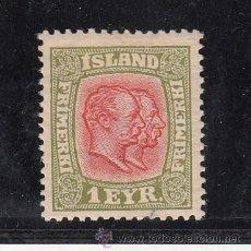 Sellos: ISLANDIA 75 CON CHARNELA, FEDERICO VIII Y CRISTIAN IX . Lote 45481110