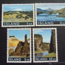 ISLANDIA Nº YVERT 387/0*** AÑO 1970. PAISAJES (II)