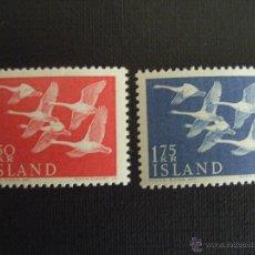 Sellos: ISLANDIA Nº YVERT 270/1*** AÑO 1956.EMISION CONJUNTA PAISES NORDICOS. Lote 47368417
