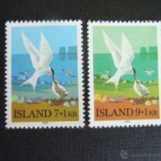 Sellos: ISLANDIA Nº YVERT 422/3*** AÑO 1972 AVES. STERNA ARCTICA. Lote 49582097