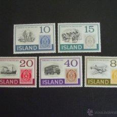 Sellos: ISLANDIA Nº YVERT 426/0*** AÑO 1973.CENTENARIO PRIMER SELLO ISLANDES. TRANSPORTES DIVERSOS. Lote 49582108