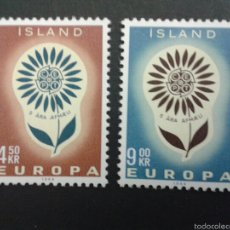 Sellos: SELLOS DE ISLANDIA. EUROPA CEPT. YVERT 340/1. SERIE COMPLETA NUEVA CON CHARNELA.. Lote 53145877