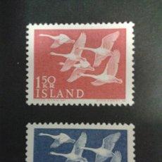 Sellos: SELLOS DE ISLANDIA. FAUNA. AVES. YVERT 270/1. SERIE COMPLETA NUEVA SIN CHARNELA.. Lote 53145927