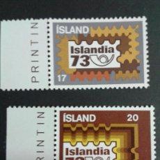 Sellos: SELLOS DE ISLANDIA. YVERT 435/6. SERIE COMPLETA NUEVA SIN CHARNELA.. Lote 53145937