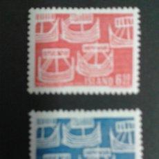 Sellos: SELLOS DE ISLANDIA. BARCOS. YVERT 381/2. SERIE COMPLETA NUEVA SIN CHARNELA.. Lote 53145945