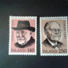 Sellos: SELLOS DE ISLANDIA. EUROPA CEPT. YVERT 505/6. SERIE COMPLETA NUEVA SIN CHARNELA.. Lote 53147315