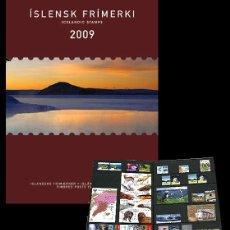 Sellos: ISLANDIA 2009 - AÑO COMPLETO - YEAR PACK. Lote 54023541