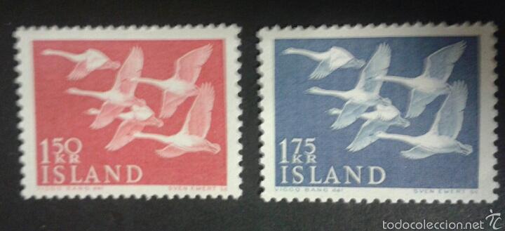 SELLOS DE ISLANDIA. FAUNA. AVES. YVERT 270/1. SERIE COMPLETA NUEVA SIN CHARNELA. (Sellos - Extranjero - Europa - Islandia)