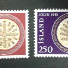 Sellos: SELLOS DE ISLANDIA. YVERT 527/8. SERIE COMPLETA NUEVA SIN CHARNELA. . Lote 55798518