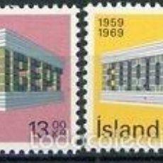 Sellos: ISLANDIA 1969 IVERT 383/4 *** EUROPA - 10º ANIVERSARIO CONFERENCIA EUROPEA CORREOS Y COMUNICACIONES. Lote 58015495