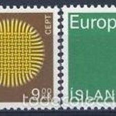 Sellos: ISLANDIA 1970 IVERT 395/6 *** EUROPA . Lote 58015518