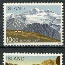 Sellos: ISLANDIA 1986 IVERT 601/2 *** EUROPA - PROTECCIÓN DE LA NATURALEZA Y EL ENTORNO. Lote 58015780