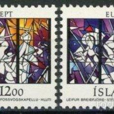 Sellos: ISLANDIA 1987 IVERT 618/9 *** EUROPA - ARQUITECTURA MODERNA. Lote 58015902